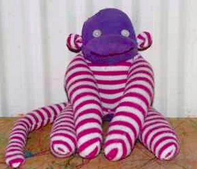 sock monkey baby tights