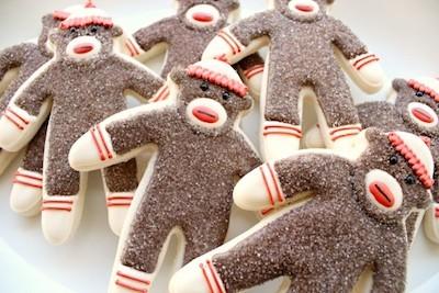 sock monkey cookies