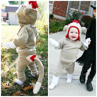 baby sock monkey costume  sc 1 st  Craftfoxes & Dawn of the Planet of the Sock Monkeys - Craftfoxes