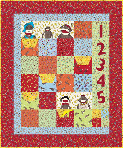 sock monkey quilt pattern