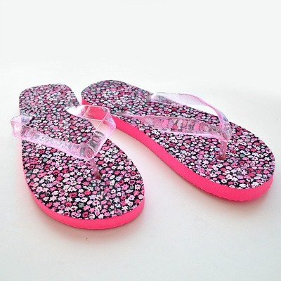Fabric-covered DIY Flip Flops