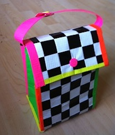 duct tape lunch bag, duct tape projects, duct tape purse, duct tape crafts