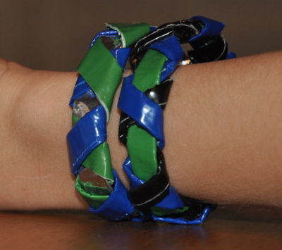 duct tape bracelet, duct tape crafts, duct tape projects, duct tape jewelry