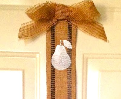 burlap ribbon door banner
