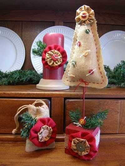 christmas burlap crafts