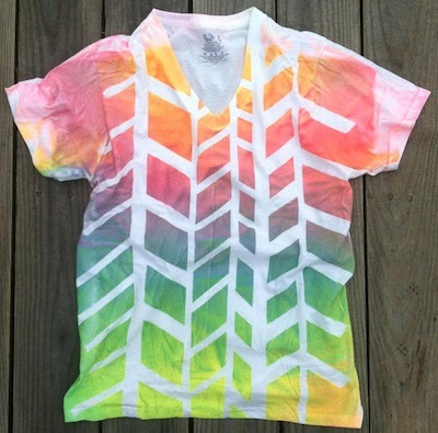spray painted tee shirt
