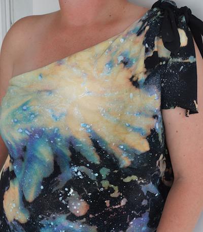galaxy tie-dye shirt