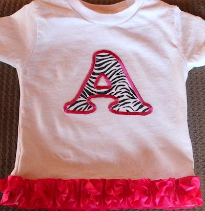 monogram baby tee shirt