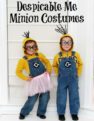 Halloween costumes for kids, despicable me, despicable me 2, DIY minion costume