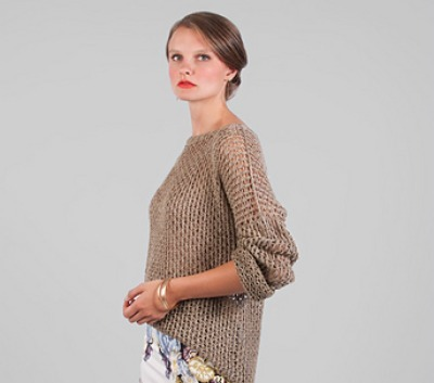 Tan slouch sweater