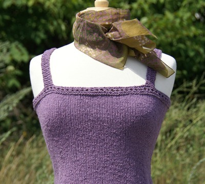Purple knitted camisole