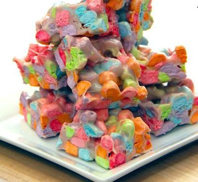 unicorn barf mini marshmallow bars