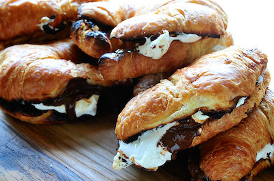grilled croissant smores