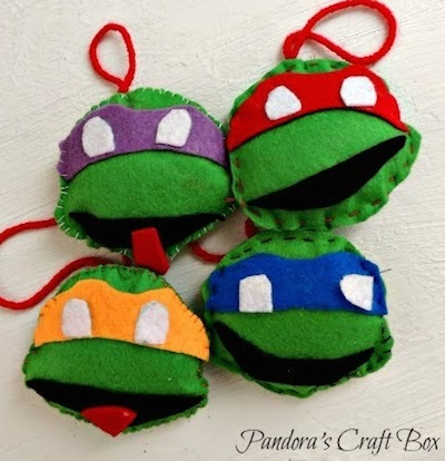 felt ninja turtle ornament