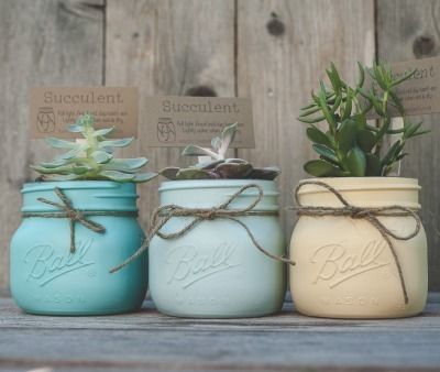 mason jar crafts, succulent plants, ball mason jar and succulents, jar planter