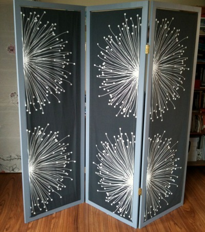diy folding screen, folding screen, apartment decor
