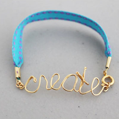 friendship bracelet, wired letters