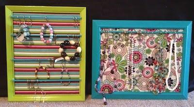 framed jewelry organizer rack