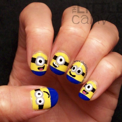 Despicable Me crafts, Despicable Me nails, Minion crafts, Minion nails, diy nail art, nail tutorial