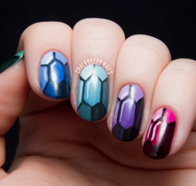 diy nail art, jewel nail art, nail tutorial