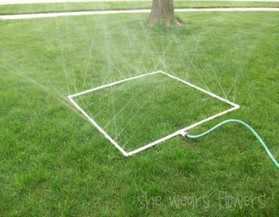 diy lawn games, outdoor activities, lawn games for kids, diy sprinkler, homemade sprinkler