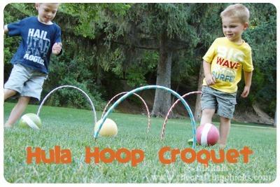 diy croquet, diy lawn games, outdoor games for kids,