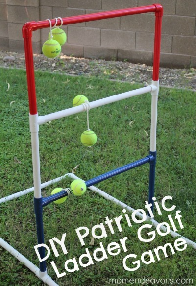 ladder ball game, lawn golf game, diy lawn golf, diy ladder ball, outdoor games