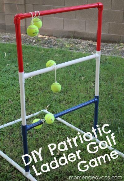 ladder ball game, lawn golf game, diy lawn golf, diy ladder ball, outdoor games