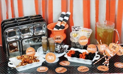 OITNB party decorations, orange is the new black dinner party
