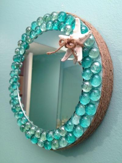 smoothfoam beach glass mirror