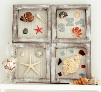 beach theme shadowbox