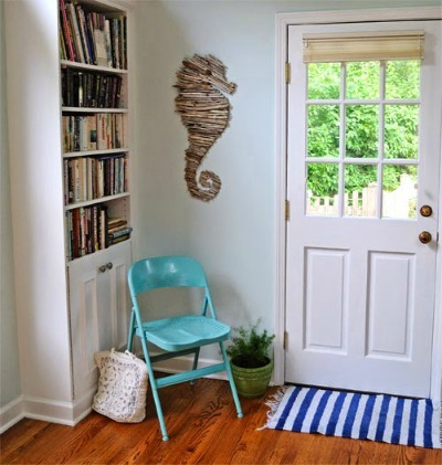driftwood seahorse wallhanging
