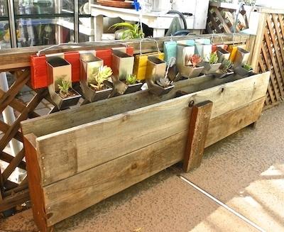 reclaimed wood planter box