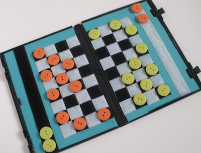 travel checkers game diy