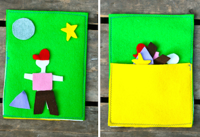 felt kids travel game diy