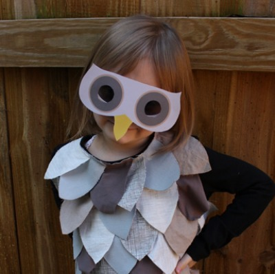 Owl kids halloween costume