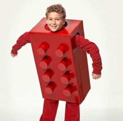 Lego brick kids halloween costume