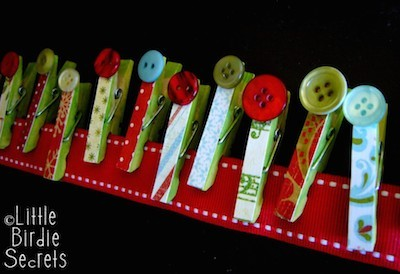 Christmas garland made from holiday cards
