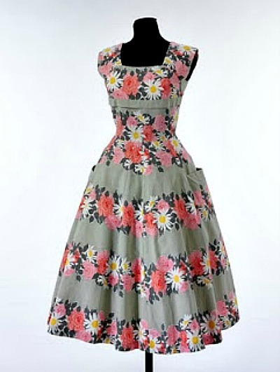 Floral vintage dress patterns