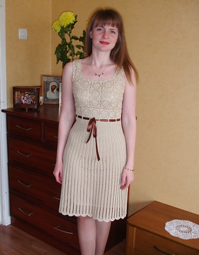 Crochet Sleeveless Dress