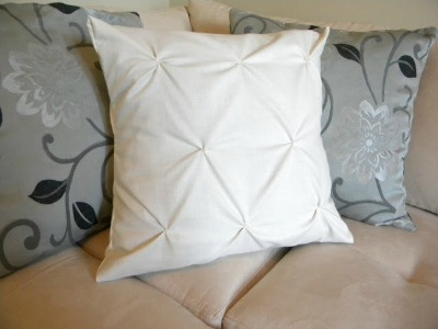 National Sewing Month, pin tucked pillow cover, diy sewing project, home sewing project, diy pillows