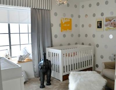 diy contact paper decals polka dot wall