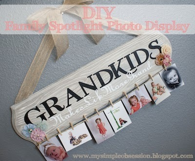 diy clothespin photo sign