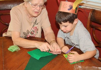 crafting with grandma