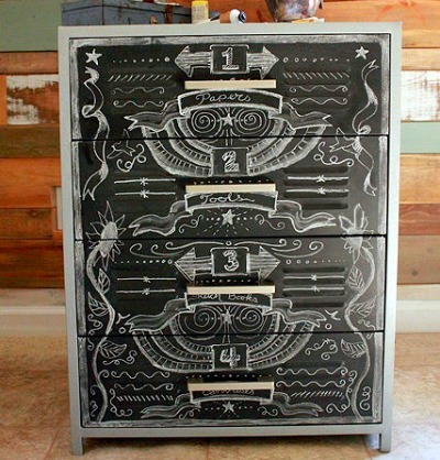 Thrift store upcycle drawers, Repurpose DIY drawers, Chalkpaint drawers, Chalkpaint DIY projects