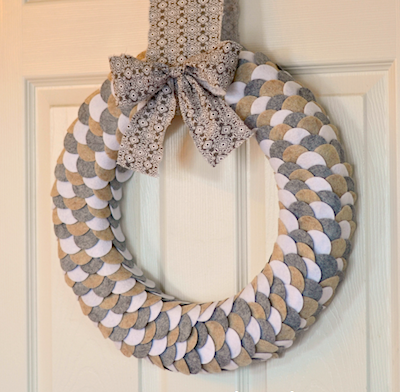 felt circle diy wreath
