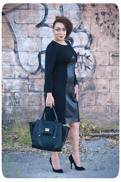 black leather dress sewing pattern