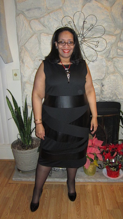black leather plus size dress pattern