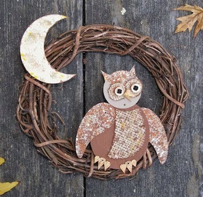 owl chipboard poppet