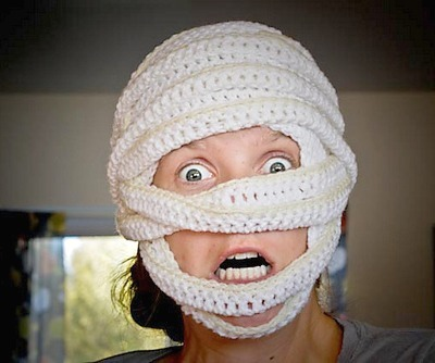 DIY Halloween mask, DIY Halloween costume, Crochet crafts, Crochet costume, Crochet mask